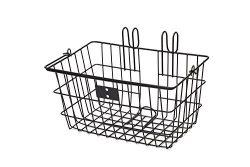 Retrospec Detachable Steel Apollo-Lite Lift-Off Front Bike Basket with Handles, Black