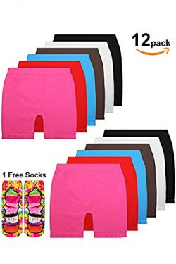 Basico Girls Dance, Bike Shorts 6, 12 Value Packs – for sports, play or under skirts (Litt ...