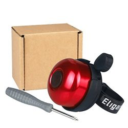 Eligara Bicycle Bell by Aluminum Alloy Bike Bell with Loud, Long, Crisp Sound for Mountain Road  ...