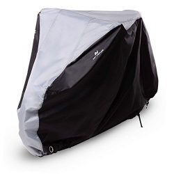 Art-Venture Bike Cover Waterproof Outdoor Bicycle Cover Heavy Duty 210D Ripstop Fabric Anti-UV P ...