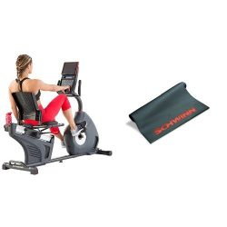 Schwinn 270 Recumbent Bike and Mat Bundle
