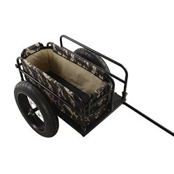Cycle Force EV Bicycle Cargo & Surfboard Trailer with Camoflauge Cover