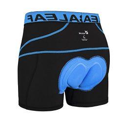 Baleaf Men's 3D Padded Bike Bicycle MTB Cycling Underwear Shorts (Blue, XXXL)