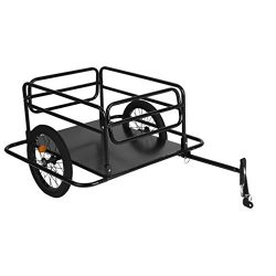 Blackpoolfa Steel Bike Cargo Trailer with Connector | Foldable Bicycle Luggage Trailer with 16 i ...