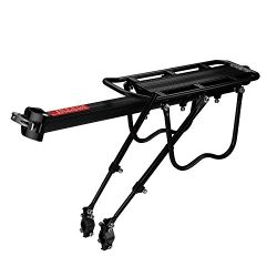 Flexzion Bike Rear Rack Mount – Bicycle Back Seat Pannier Luggage Backpack Cargo Basket Ca ...