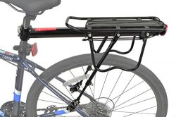 Lumintrail Bicycle Commuter Carrier Rear Seatpost Frame Mounted Bike Cargo Rack for Heavier Top  ...