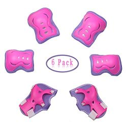 Dostar Kids Protective Gear Set – Adjustable Safety Knee Pads Elbow Roller Wrist Guards fo ...