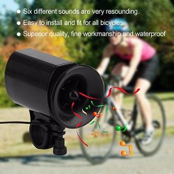 Lexiesxue 6 Sound Electronic Bike Bell Ring Siren Warning Horn Ultra Loud Voice Speaker Bicycle  ...