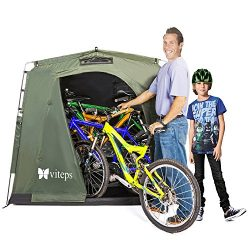 Viteps Space-Saving Outdoor Storage Shed Tent, Stores Bicycles, Tools storage, Toys, Pool Suppli ...