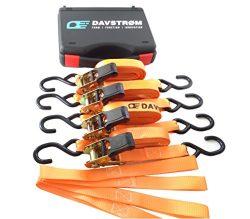 DAVSTROM Tie Down Strap, New Ratchet Kit, Heavy Duty Cargo Straps, 4×1″x15′ + 4 ...