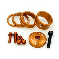 Wolf Tooth Precision Anodized Headset Spacers (Orange, Bling Kit)