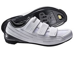 Shimano SH-RP2 Women's Touring Road Cycling Synthetic Leather Shoes, White, 42
