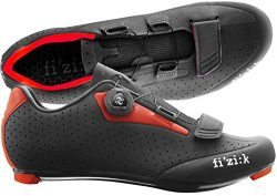 Fizik R5 UOMO BOA Road Cycling Shoes, Black/Red, Size 43  Black/Red