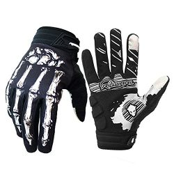 Cycling Gloves For Men And Women, Bike Gloves With Shock-absorbing Gel Pad, Anti-Slip Silicone P ...