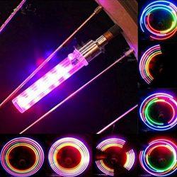 Ecosin Fashion 2PCS 5 LED Flash Light Bicycle Motorcycle Car Bike Tyre Tire Wheel Valve Lamp
