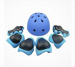 shuangjishan Child Multi-Sport Helmet With Knee Pads Elbow Wrist Protection Set for Skateboard C ...