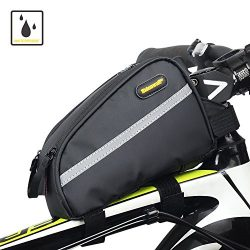 Sodee Bike Bag Top Tube Bag Front Tube Frame Bag Double Zipper Design Water Resistance Bicycle B ...