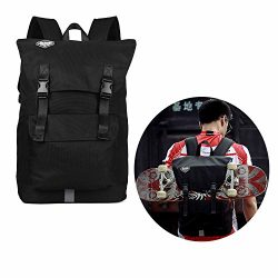 Awaytoy Sliding Plate Backpack Roomy Sports Bag for Road and Fixie Bike Cycling Camping Travel H ...