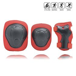 Kids/Child Cycling Inline Roller Skating Knee Pads Elbow Pads Wrist Guards Protective Gear Set f ...