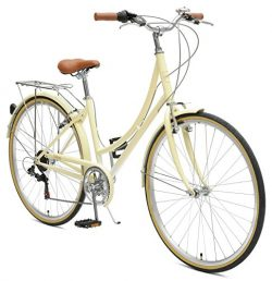 Critical Cycles Beaumont-7 Seven Speed Lady's Urban City Commuter Bike, Cream, 38cm (Small ...