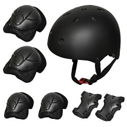 Kiwivalley Kids Boys and Girls Outdoor Sports Protective Gear Safety Pads Set [Helmet Knee Elbow ...