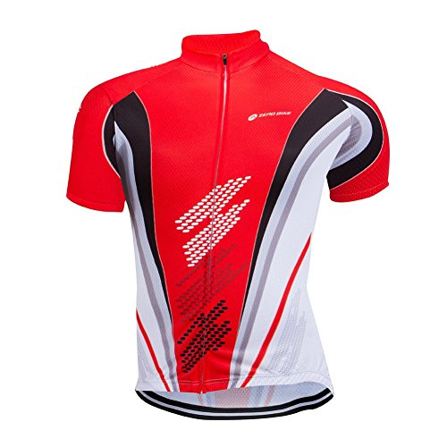 ZEROBIKE Men's Short Sleeve Cycling Jersey Jacket Cycling Shirt Quick Dry Breathable Mount ...