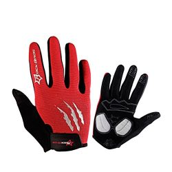 Rockbros Bike Riding Gloves MTB BMX Anti-slip Cycling Mittens Full Finger Gel Pad Men's Gloves
