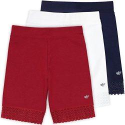Lucky & Me Jada Little Girls Bike Shorts, Tagless, Soft Cotton, Lace Trim, Underwear, Americ ...