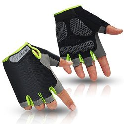 HuwaiH Cycling Gloves Men's/Women's Mountain Bike Gloves Half Finger Biking Gloves | ...