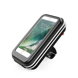 Bike Phone Mount,6.2inch 360 Rotatable Universal Waterproof Bicycle Phone Bag Holder Pouch Holst ...