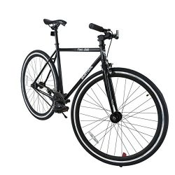 Uenjoy Murtisol Classic Fixed Gear Bike 700C Single-Speed City Commuter Bicycle Black/White