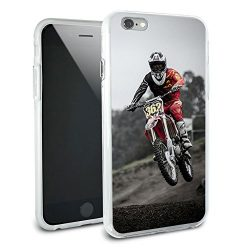 Dirt Bike Off Road Racing Protective Slim Hybrid Rubber Bumper Case for Apple iPhone 6 6s Plus ( ...