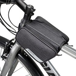 Winkeyes Bike Frame Bag Top Tube, Front Bag, Bicycle Handlebar Bag Outdoor Cycling Bike Bag Pack ...