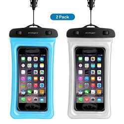 Floating Universal Waterproof Case,FITFORT IPX8 Waterproof Phone Pouch Fingerprints Available TP ...
