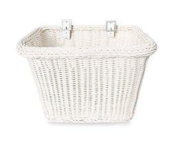 Colorbasket 00672 Adult Front Handlebar Rectangle Bike Basket, White