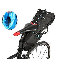 Ideashop Saddle Bag, 100% Waterproof Bike Bicycle Saddle Bag, 10L Bike Seat Bag Under Seat Packs ...