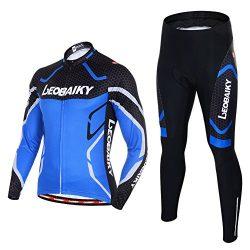 Leobaiky Spring Autumn Winter Mens Cycling Clothing Set Sportswear Suit 0utdoor Sports Bicycle B ...