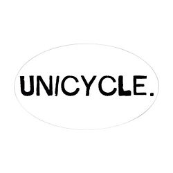 CafePress – Unicycle Sticker Oval – Oval Bumper Sticker, Euro Oval Car Decal