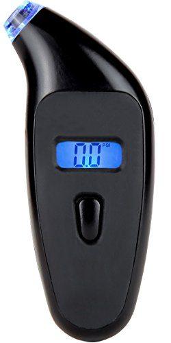 Digital Tire Pressure Gauge 150PSI Black Metal Body