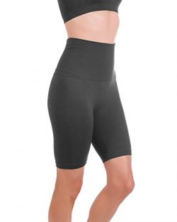 Homma Women's Tummy Control Fitness Workout Running Bike Shorts Yoga Shorts … (Medium, Cha ...