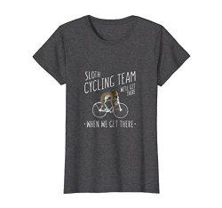 Womens Funny Sloth Cycling Team – Funny Sloth on a Bike T Shirt Medium Dark Heather
