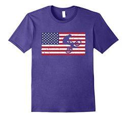 Mens American Flag Bmx T-shirt Cool Bicycle Vintage Bike Gift Tee Large Purple