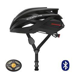 Coros OMNI Smart Cycling Helmet w/Bone Conducting Audio, LED Tail Lights & Removable Visor | ...