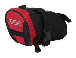 Roswheel 13656 Bike Saddle Bag Bicycle Under Seat Pack Cycling Accessories Pouch, Black/Red