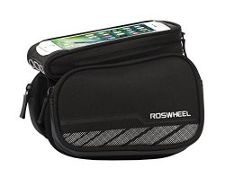 Roswheel 12813 Waterproof Bike Top Tube Bag Bicycle Frame Double Panniers with Detachable Phone  ...