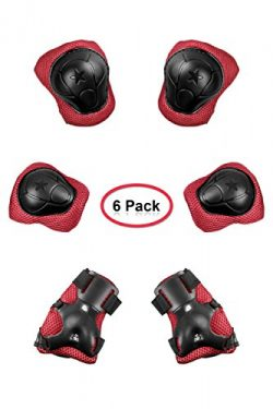 ACVCY Kids Protective Gear Set,Knee and Elbow Pads with Wrist Guards for Child Toddler Multi-spo ...