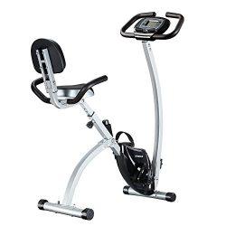 FEIERDUN Exercise Bike, Folding Stationary Bikes Adjustable Upright Magnetic excersize bicycle
