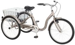 Schwinn Meridian Full Size Adult Tricycle 26 wheel size Bike Trike, grey gray