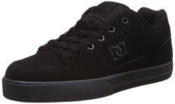 DC Men's Pure Skate Shoe, Black/Pirate Black, 7 M US