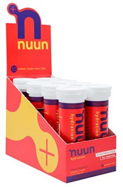 Nuun Hydration: Electrolyte Drink Tablets, Fruit Punch, Box of 8 Tubes (80 servings), to Recover ...